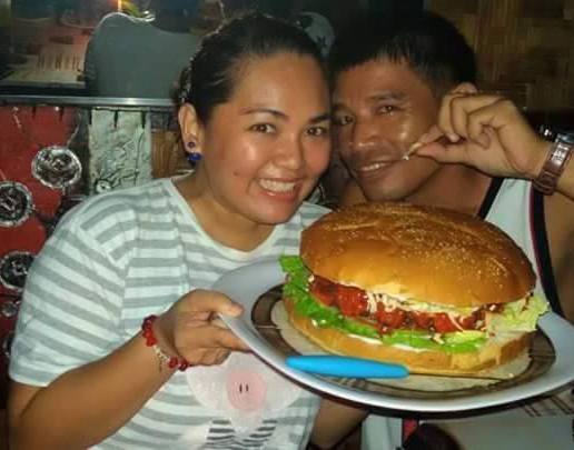 Ready to eat Safari Famous Giant Burger!